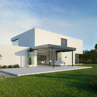 Solarlux Azubis på funkis hus
