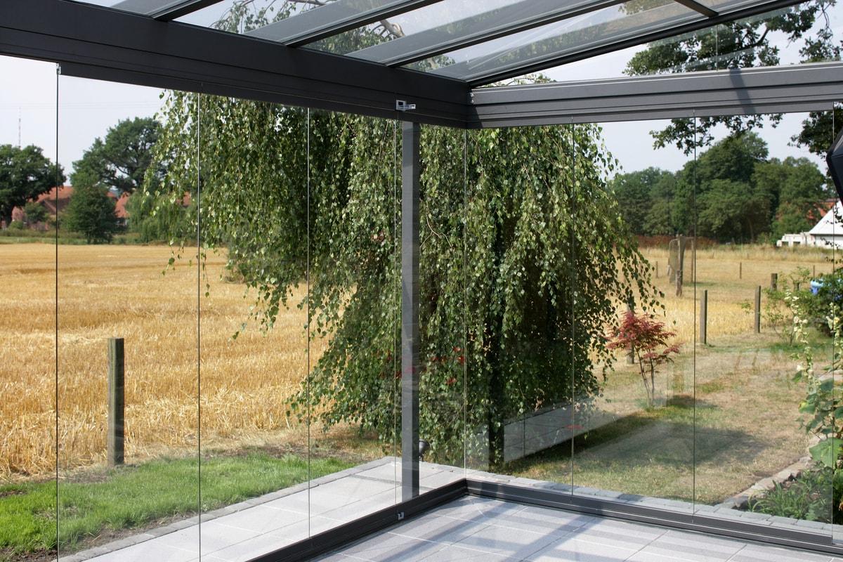Skyde Foldeglas Solarlux Glasfacader Helt Uden Rammer