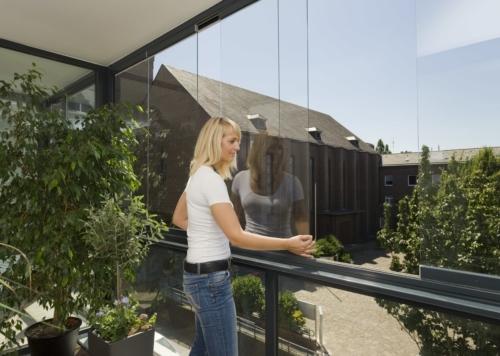 Balkon indglasning med SL25 elementer