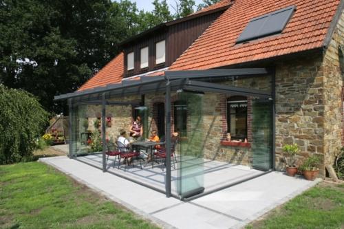 Solarlux Atrium Plus Udestue på traditionelt tysk hus
